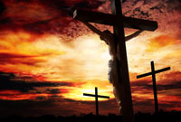 Jesus Christ on the cross dying for our sins